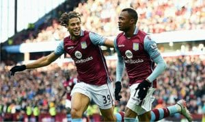 Jordan Ayew (right) of Aston Villa was among the first Africans to be relegated from the EPL in 2015/2016.