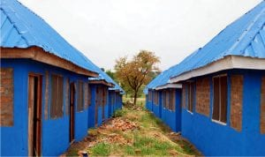 A 200 Room Village/Shelter Support Project for Internally Displaced Persons (IDPs) built by the United Nations High Commission for Refugees in Guma LGA, Benue State, recently.