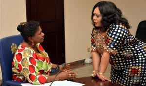 Rivers State Deputy Governor, Dr (Mrs) Ipalibo Harry-Banigo (left), with State Commissioner for Culture and Tourism, Mrs Tonye Onyiride, during a meeting at Government House in Port Harcourt, recently.