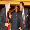 L-R: President of American Academy of Arts and Sciences, Mr. Jonathan Fanton, President of  Nigeria Academy of Science (NAS), Prof. Mosto Onuoha and former Governor of Cross River State, Mr. Donald Duke, during the 40th Anniversary Dinner of NAS in Abuja, last Wednesday.